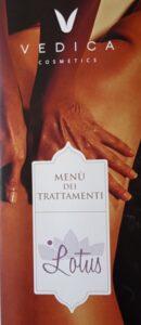 vedica menù trattamenti